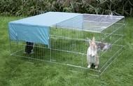 Výběh pro králíky, hlodavce a drůbež 144x112x60cm