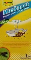 Mucholapka - lepová karta  (3 ks+stojánek+vlákno)