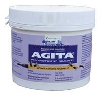 Agita 10 WG proti mouchám Postřik AGITA 10 WG na mouchy ve stáji, nástraha ve formě vodorozpustného granulátu k hubení mouchy domácí