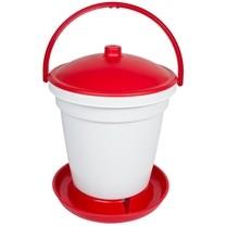 Napájecí kbelík pro drůbež 18ltr plast s držadlem