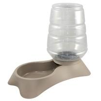 KERBL Zásobník s miskou na vodu pro psy a kočky popelavě hnědý, 11 l