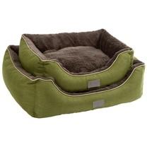 Pelíšek SAMUEL pro psy a kočky, zelený, 60 x 50 x 17 cm