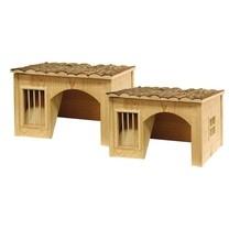 Domek pro králíky, s jeslemi na seno, 54x41x30cm