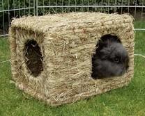 Domek pro králíky z trávy XL, 37x30x28cm