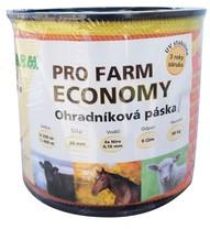 Páska, 20mm, PRO FARM ECONOMY, žlutooranž, 4x0,16 Niro