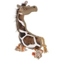Hračka pro psy látková - žirafa Gina, 29 cm