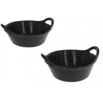 Krmné koryto, gumové, flexibilní, černé, 11 L