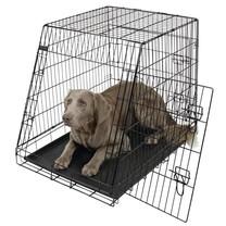 Přepravní box, klec do auta pro psy, 92x 63x 74 cm, 2 dveře, zkosená