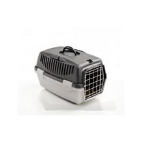 Přepravka pro psy a kočky Gulliver 1, tmavě šedá/světle šedá, 48x32x31cm, kovová dvířka