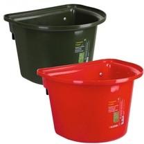 Závěsný kbelík na krmivo 12 l, bez madla, tmavě zelená