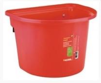 Vědro závěsné s úchyty 12 litrů, červené