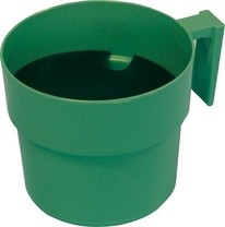 Hrnek oddojovací velký s destičkou - zelený