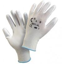 Rukavice Brita nylon, dlaň a prsty máč. v polyuret