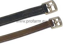 Třmenové řemeny import kožené Pony, hnědá, Barva černá