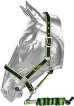 Ohlávka s logem KenTaur + vodítko béžová/hnědá