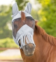 Maska proti hmyzu s třásněmi Waldhausen full šedá