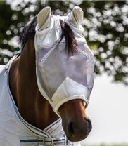 Maska proti hmyzu Premium UV ochrana Pony šedá