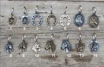 Klíčenka kovová hlava koně stříbrná č. 10