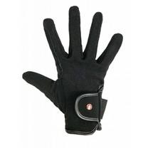 Jezdecké rukavice Professional - Nubukový vzhled S černé