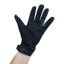 Rukavice jezdecké pletené s kůží černé, Velikost XS