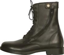 Boty perka šněrovací boční zip 10124: černá