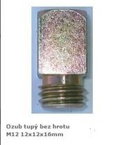 Ozub M12 bez hrotu-vysoký /12x12x16mm/