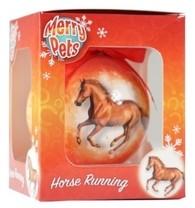 Vánoční ozdoba s koněm oranžová