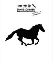 Samolepka na auto HKM běžící kůň černá