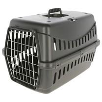 Kerbl Přepravka pro psa Expedition Eco, s kovovými dvířky, černá, 58 x 38 x 38 cm