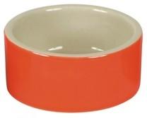 Miska na krmivo keramická, kulatá, 150 ml barevný mix