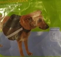 ruksak na záda pro psa, M, černý, 80-90