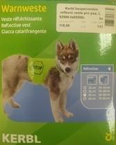 Kerbl bezpečnostní reflexní vesta pro psa, L
