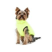 Vesta pro psa Charmonix prošívaná oboustranná, šedá/neonově žlutá, S / 35 cm