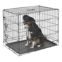 Přepravní box, klec do auta pro psy, 76 x 54 x 64 cm, 2 dveře