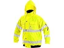 Pánská reflexní bunda LEEDS, zimní, žlutá