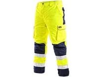 Pánské reflexní kalhoty CARDIFF, zimní, žluté
