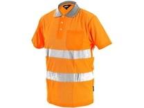 Pánská reflexní polokošile DOVER, oranžová