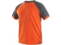 Tričko s krátkým rukávem OLIVER, oranžovo-šedé