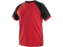 Tričko s krátkým rukávem OLIVER, červeno-černé