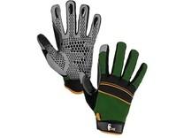 Rukavice CARAZ, kombinované, zeleno-černé