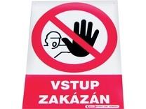 "Tabulka ""Vstup zakázán"""
