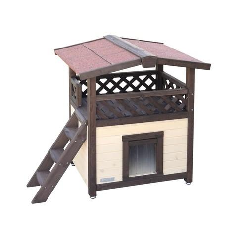 Pelíšek - zateplená vyhřívaná bouda pro kočky 4-Seasons Deluxe