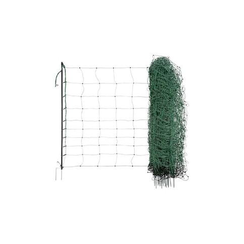 Síť pro elektrické ohradníky na ovce Ovinet 108 cm, 50 m, 1 hrot, zelená, Zelená, 1 hrot