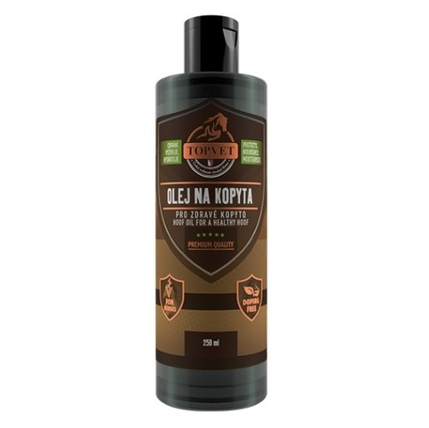 TOPVET Olej na kopyta - pro zdravé kopyto 500 ml
